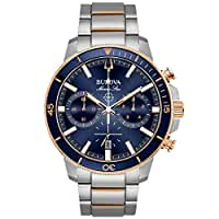 Men's Bulova Marine Star Two-Tone Blue Dial Chronograph Watch 98B301