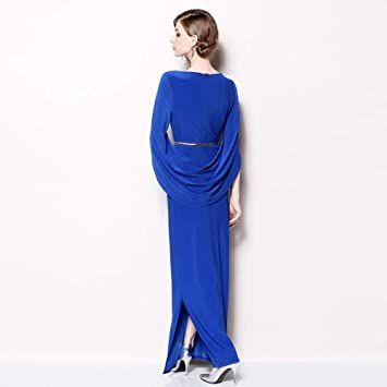 zysymx La Primavera y el otoño nuevos Vestidos Azules Temperamento ...