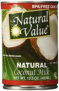 Natural Value Coconut Milk, 13.5-Ounce Containers (Pack of 6)