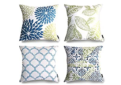 "Phantoscope New Living Series Decorative Throw Pillow Case Cushion Cover 18"" x 18"" 45cm x 45cm Set of 4"