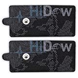 """HiDow TENS EMS XL Replacement Pads (2"""" X 4"""") Muscle Stimulator Electrodes Gel Pads Reusable Premium Quality 3.5mm snap on"""