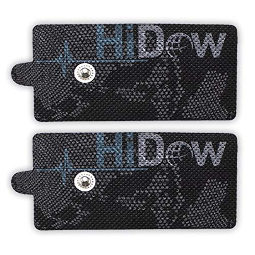 HiDow TENS Unit Stim Replacement Pads XL Hi-Dow Electrodes Gel Pads | Premium Quality 2 X 4 Compatible with Compex | Healthmateforever | iQ Massagers
