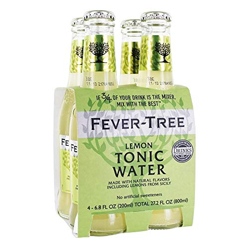 Fever-Tree Lemon Tonic Water, 6.8 Fl Oz, Pack of 4
