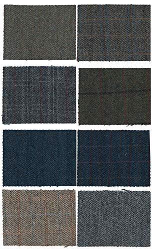 Harris Tweed Fabric Cloth Genuine 100% Pure Virgin Wool - White Sand - 39.4 x 59 in (3.28 ft) (Tweed Pure Wool)