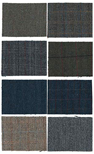 Harris Tweed Fabric Cloth Genuine 100% Pure Virgin Wool - White Sand - 39.4 x 59 in (3.28 - Jacket Horse Blazer