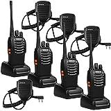Retevis H-777 2 Way Radio UHF 400-470MHz 16CH Walkie Talkies(4 Pack) with Speaker Mic (4 Pack)