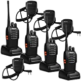 Retevis H-777 2 Way Radio UHF 400-470MHz 16CH Walkie Talkies(4 Pack) with Speaker Mic (4 Pack)