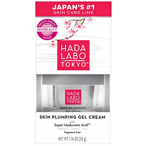 Hada Labo Tokyo Skin Plumping Gel Cream, 1.76 FL OZ - with Super Hyaluronic Acid and Collagen - 24-Hour Moisture and Visible Line Plumping, fragrance free, paraben free, - In Shop What To Tokyo