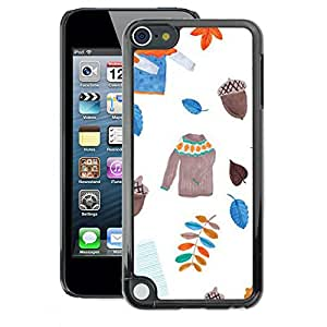 A-type Arte & diseño plástico duro Fundas Cover Cubre Hard Case Cover para Apple iPod Touch 5 (Leavers Sweater White Acorn)
