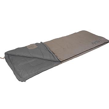 Saco de dormir pyrite de l 200 x 80 cm Gris de color marrón • único saco de dormir camping tienda Outdoor Trekking Edredón ligero: Amazon.es: Deportes y ...