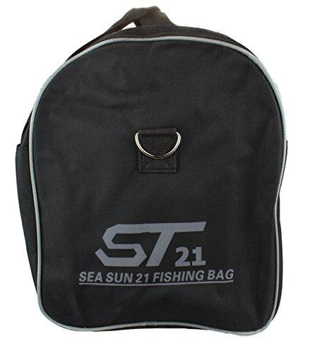 Bolsa de deporte para Mujer y Hombre / bolsa para training / Bolsa para Fitness / Bolsa de viaje en Negro/gris Black/Grey - ST21