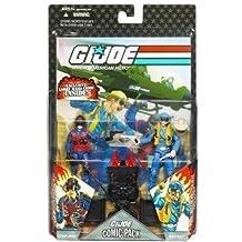"G.I. JOE Hasbro 25th Anniversary 3 3/4"" Wave 6 Action Figures Comic Book 2-Pack Scrap Iron and Wild Bill"