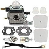 Hippotech Carburetor for ZAMA C1U-K17 C1U-K27 C1U-K27A C1U-K27B C1U-K54 C1U-K46 C1U-K82 2-Cycle Mantis 7222 7222E 7222M 7225 7230 7234 7240 7920 7924 Tiller Cultivator Replaces C1U-K54A