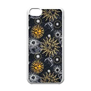 Sun Moon Pattern Unique Fashion Printing Phone Case for Iphone 5C,personalized cover case ygtg543245