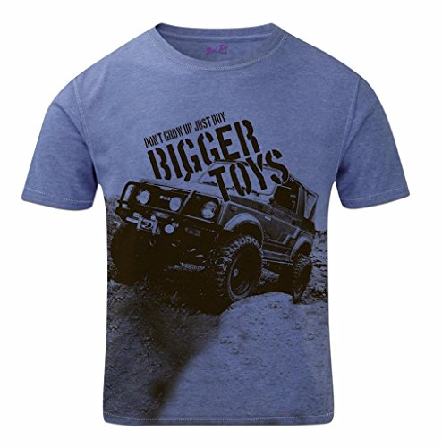 Suzuki Rock - Bang Tidy Clothing Men's Dont Grow up Buy Bigger Toys Off Road 4x4 Mudding CCV Short Sleeves Crewneck Sublimation T Shirt Top SS Blue Blue XL