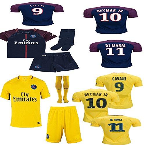 LES TRICOT 2018//2019 Paris Home #10 NEYMAR JR Football Futbol Soccer Kids Jersey Shorts Socks Set Youth Sizes