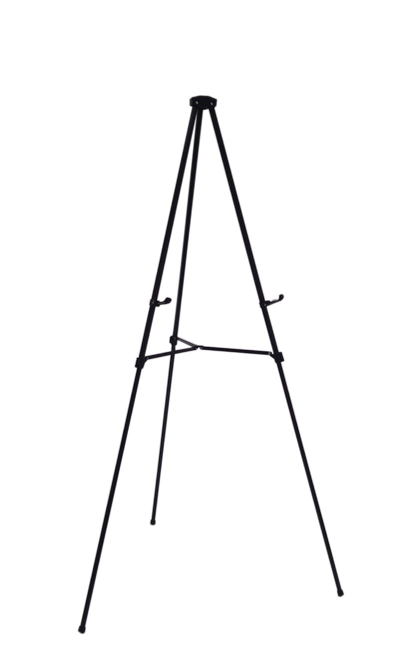 Lightweight Aluminum Telescoping Display Easel, 70 Inches, Black by Audio-Visual Direct