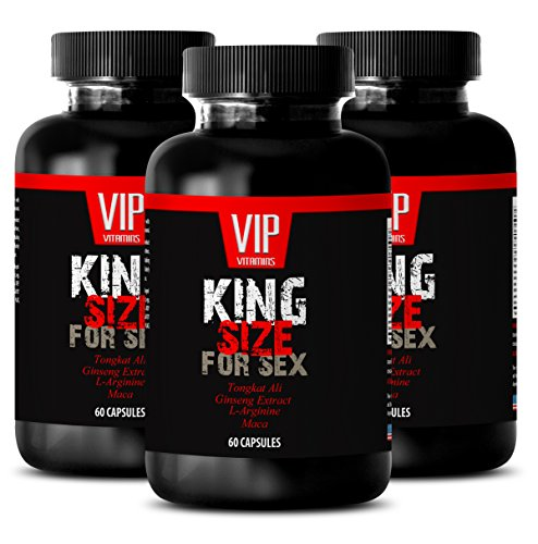 Testosterone pills for men energy - KING SIZE FOR SEX - Maca extract mens - 3 Bottles 180 Capsules by VIP VITAMINS