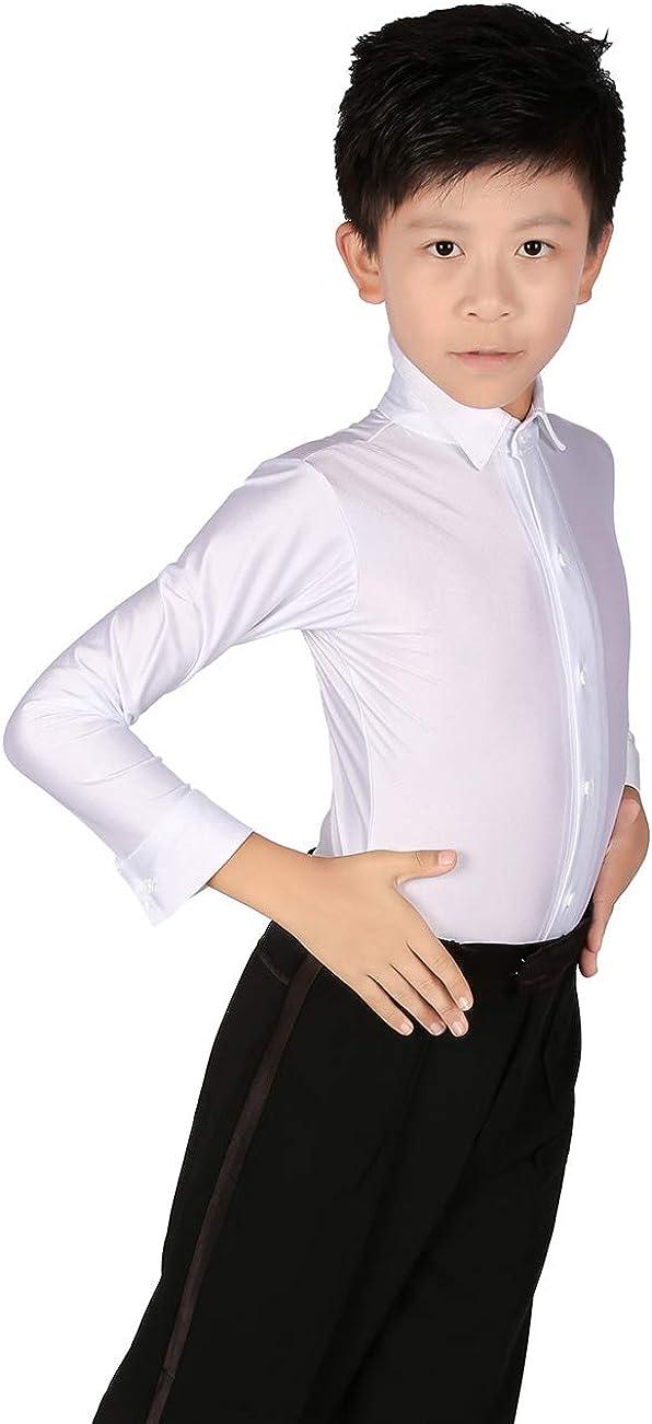 Daydance Boys Dance Shirts Ballroom Tops Tango Salsa Dance Wear