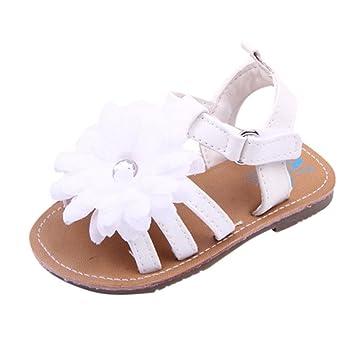 Sandalias Bebe Niña Verano, ❤ Amlaiworld Zapatillas de bebé Pequeñas Zapatos Antideslizantes Zapatillas de Deporte Sólidas para Primeros Pasos Bebe ...