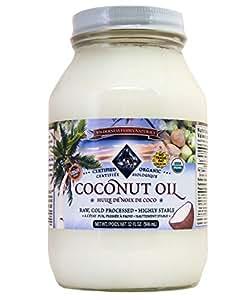 Wilderness Family Naturals Organic Coconut Oil Virgin Unrefined (Cold Pressed), Non-GMO, Raw - 32 FL OZ