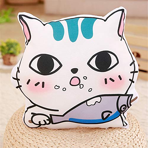 AMSKY Chrismas Pillow Cases18x18,New Cute Cat Pillow Can Be Used to Remove and Wash The Cushions for Girls,Seasonal ()