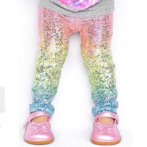 4cc24b8f7b6e3 Chic zooarts para 1 – 6 años infantil bebé niñas arco iris Leggings disfraz  de fiesta