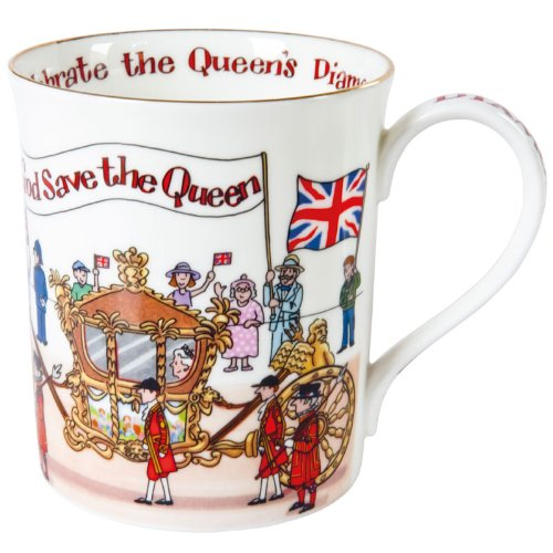 Alison Gardiner Diamond Jubilee Commemorative Fine Bone China Mug