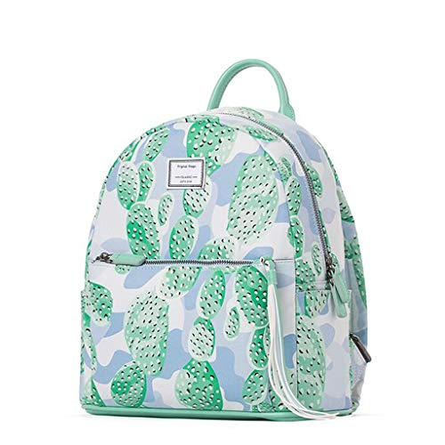 de de Women nbsp;cm 31 Bolsa Trendy Pieno Mujer Viaje nbsp;cm Bolsa nbsp;cm Collegio 12 27 Simple Viento 's impresión Salvaje Backpack Verde poliéster Impermeable UPnrtP