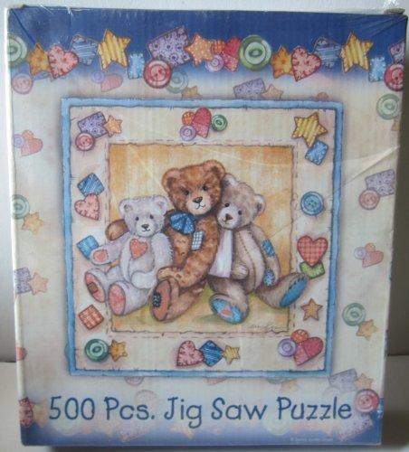 500 Piece Jigsaw Puzzle - Three Teddy - Jigsaw Teddy