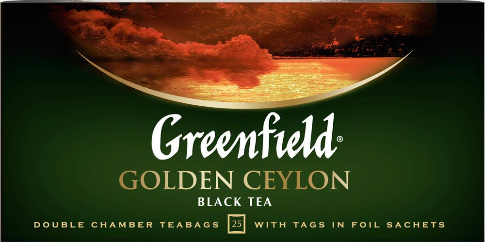Greenfield Tea, Golden Ceylon, 25 Count