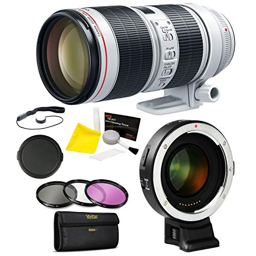 Canon EF 70-200mm f/2.8L is III Lens, Viltrox EF-E II Canon Lens to Sony Converter with Speed Booster and Accessory Bundle (Works with: A5000, A5100, A6000, A6300, A6500, and A6400)