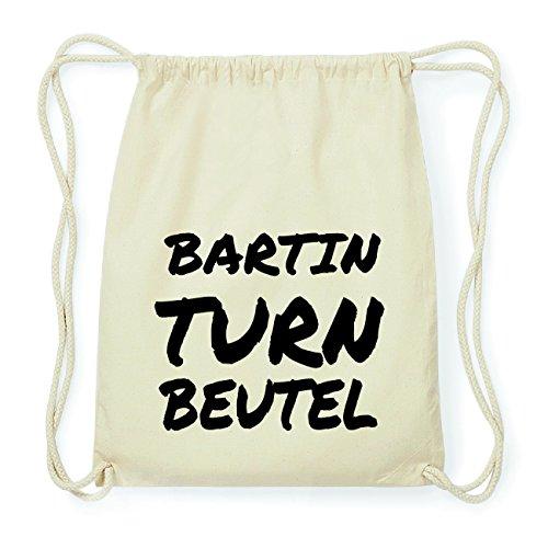 JOllify BARTIN Hipster Turnbeutel Tasche Rucksack aus Baumwolle - Farbe: natur Design: Turnbeutel Retk36Xm