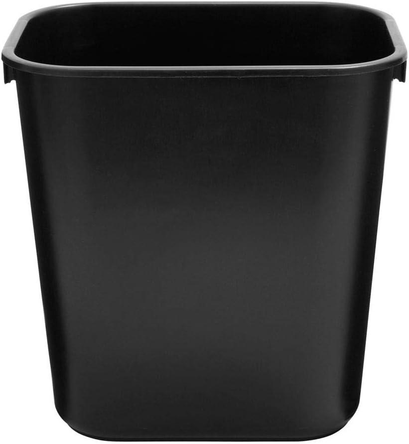 Rubbermaid FG295500BLA Small Black 14 Quart Wastebasket