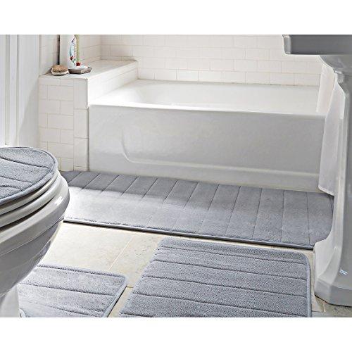 Bathroom Rug Mat 5 Piece Set Memory Foam Extra Soft Non