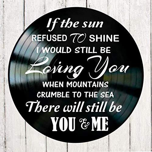 Thank You song lyric art/inspired by Led Zeppelin/Vinyl Record Album Wall Decor