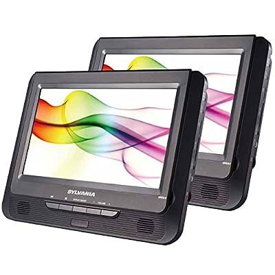 Sylvania SDVD9805/SDVD9805-C 9-Inch Twin Dual Screen DVD Player from Sylvania