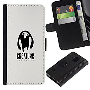 All Phone Most Case / Oferta Especial Cáscara Funda de cuero Monedero Cubierta de proteccion Caso / Wallet Case for Samsung Galaxy S5 V SM-G900 // Criatura ET