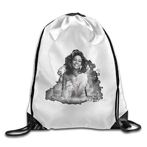 Bekey Whitney Poster Houston Gym Drawstring Backpack Bags For Men & Women For Home Travel Storage Use Gym Traveling Shopping Sport Yoga Running (Home Essentials Flyer)