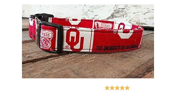 Oklahoma State University dog collar buckle or martingale with leash set option