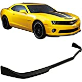 2010 camaro ss spoiler - Front Bumper Lip Fits 2010-2013 Chevy Camaro SS model | CS Style Unpainted Raw Material Black PU Front Lip Finisher Under Chin Spoiler Add On by IKON MOTORSPORTS | 2011 2012