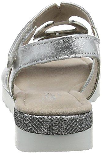 Multicoloresilber Gabor Comfort Glamour Cheville Femme Shoes SportSandales Bride OZwPkliuXT