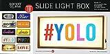 Rocket & Rye Slide Message LED Wooden Light Box Sign