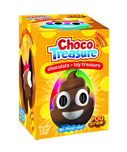 Poo Crew Emoji Choco Treasure Eggs with Toy Surprise!, Tray of 12 Eggs | 24 Collectible Toys | Fun For All Ages ()