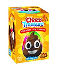 Poo Crew Emoji Choco Treasure Eggs with Toy Surprise!, Tray of 12 Eggs   34 Collectible Toys   Fun For All Ages