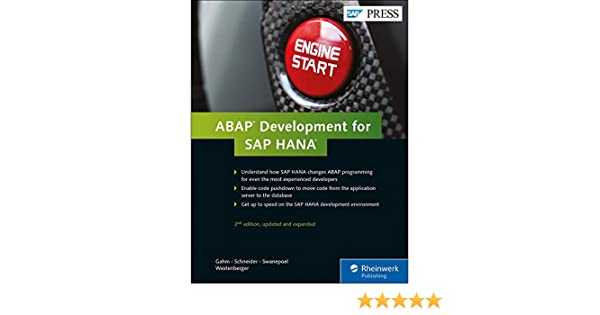 Amazon com: ABAP Development for SAP HANA (2nd Edition) (SAP