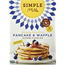 Simple Mills Pancake & Waffle Mix, 10.7 Ounce Box (Pack of 3)