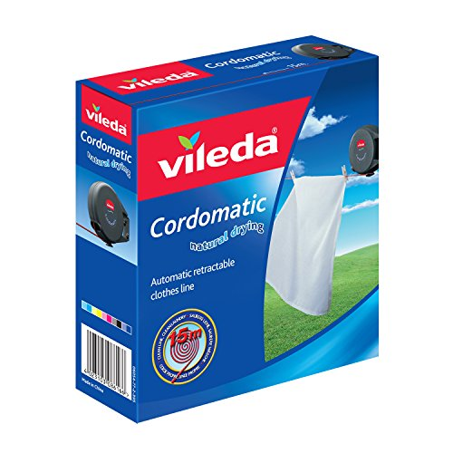 Vileda VIL102811 Cordomatic In And out Line 15metre [Kitchen & Home] (Best Washing Line Prop)