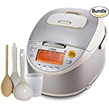 Tiger Corporation JKT-B10U C Induction Heating 5.5-Cup (Uncooked) Rice Cooker and Warmer (5.5-Cup Bundle)