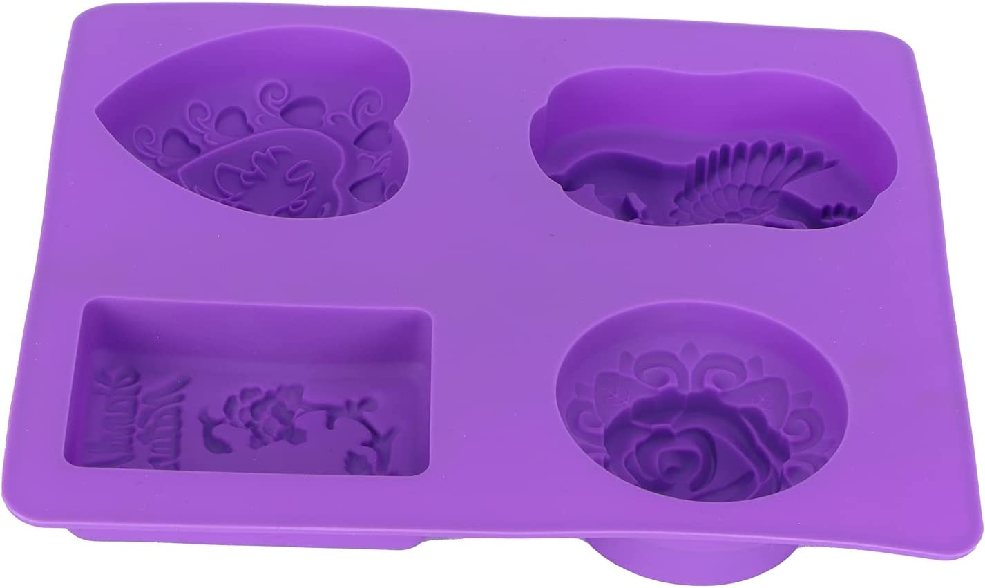 Silicone Mold, Baking Tools Multi‑Functional Food‑Grade with 4‑Grid Silicone for Baking DIY